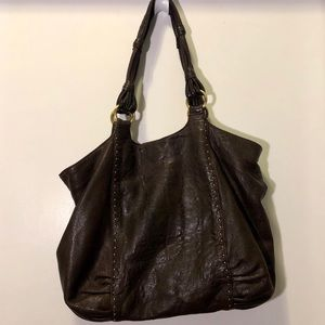 Brown Sigurd Olsen leather shoulder tote hobo bag